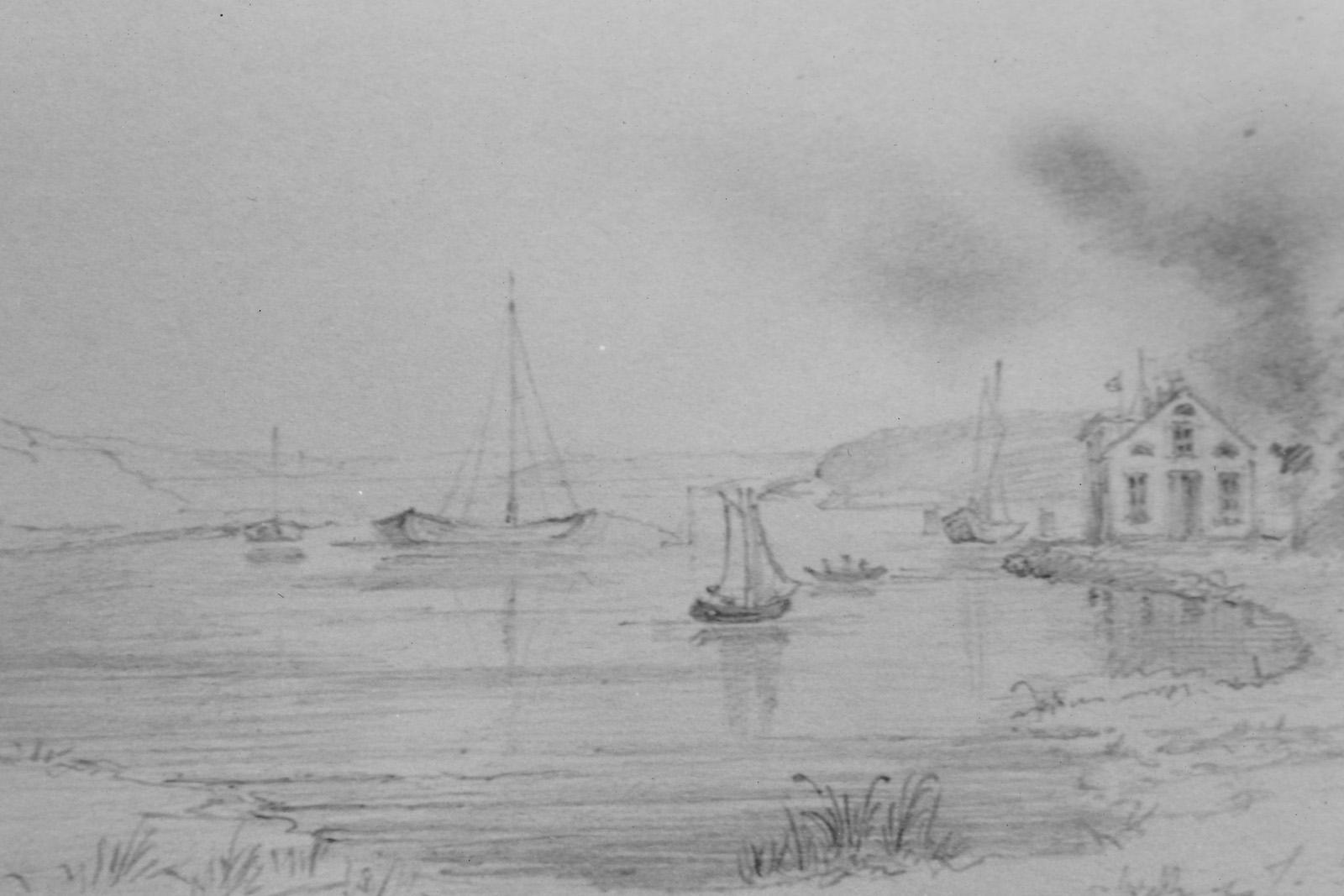 Teckning Särö. Bild 11680b.