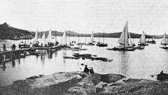 Särö båthamn. Bild 10197.