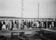 Särö båthamn. Bild 1860.