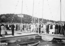 Särö båthamn. Bild 1861.