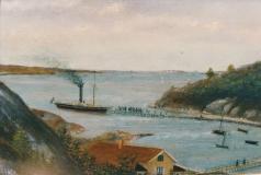 Ångbåtsbryggan Särö. Bild 11784.