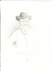 """""""Martin"""", pennteckning ur Ruth Atterboms skissblock 1909, Särö"""