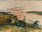 Utsikt mot Munkekullen och Skörvallaviken, Särö