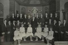 Konfirmation 1960 kväll för Rolf Glemme (f. 1921) i Särö KyrkaA