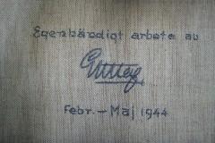 Kungligt antependium i Särö Kyrka 1944