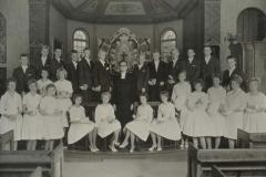Konfirmation 1960 dag för Rolf Glemme (f. 1921) i Särö Kyrka