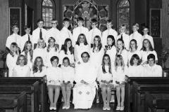 Konfirmation 1971 i Särö kyrka för Gerhard Wetterqvist grupp 2