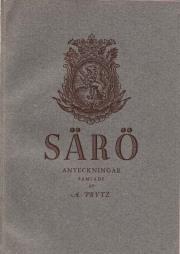 August Prytz: Anteckningar från hemmanet och badorten Särö