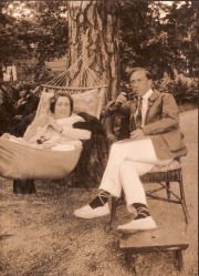 Gladys Nystroem och Matti Rubinstein Särö 1922