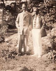 Matti Rubinstein och Gösta Nystroem Särö 1922.