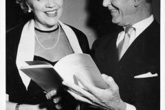 Gösta och Helen Nystroem på Orkesterföreningens jubileum 1955 Särö