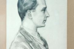 Porträtt av Gösta Nystroem målat av Dardel 1929.