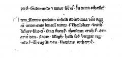 Valdemar II Jordebog. Bild 10285.