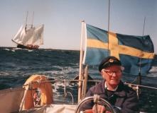 Segling Särö. Bild 1992.