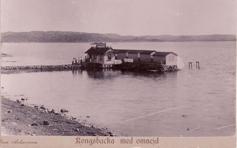 Dambadhuset vid Bassängbacken i Särö.