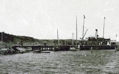 Den rasade ångbåtsbryggan å Särö